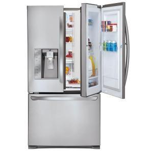 30 5 Cu Ft French Door Refrigerator In Stainless Steel Door In Door Design Lfx31945st At The Home Depot Home Goods Decor French Door Refrigerator Home