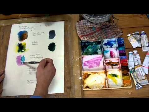 How to Colour Mix with Watercolour by Sheila Gill - YouTube