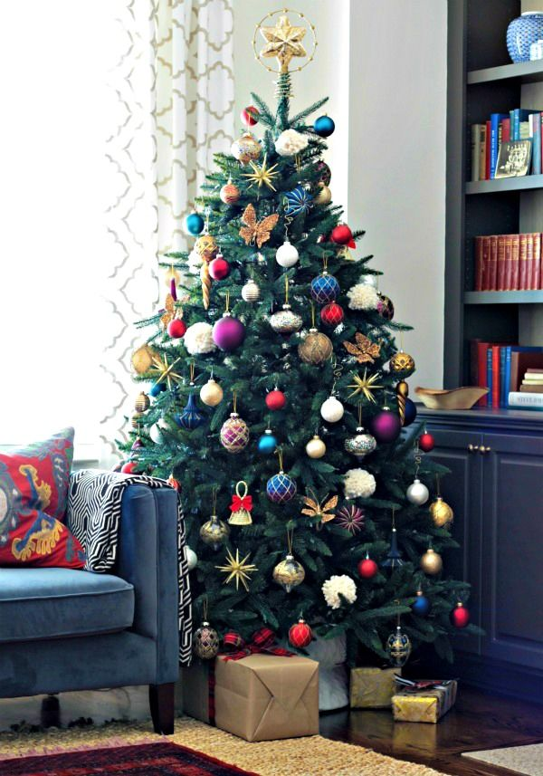 A Jewel Toned Tree 12 Bloggers Of Christmas With Balsam Hill A Giveaway Our Fifth House Red Christmas Decor Christmas Decorations Christmas Tree Decorations