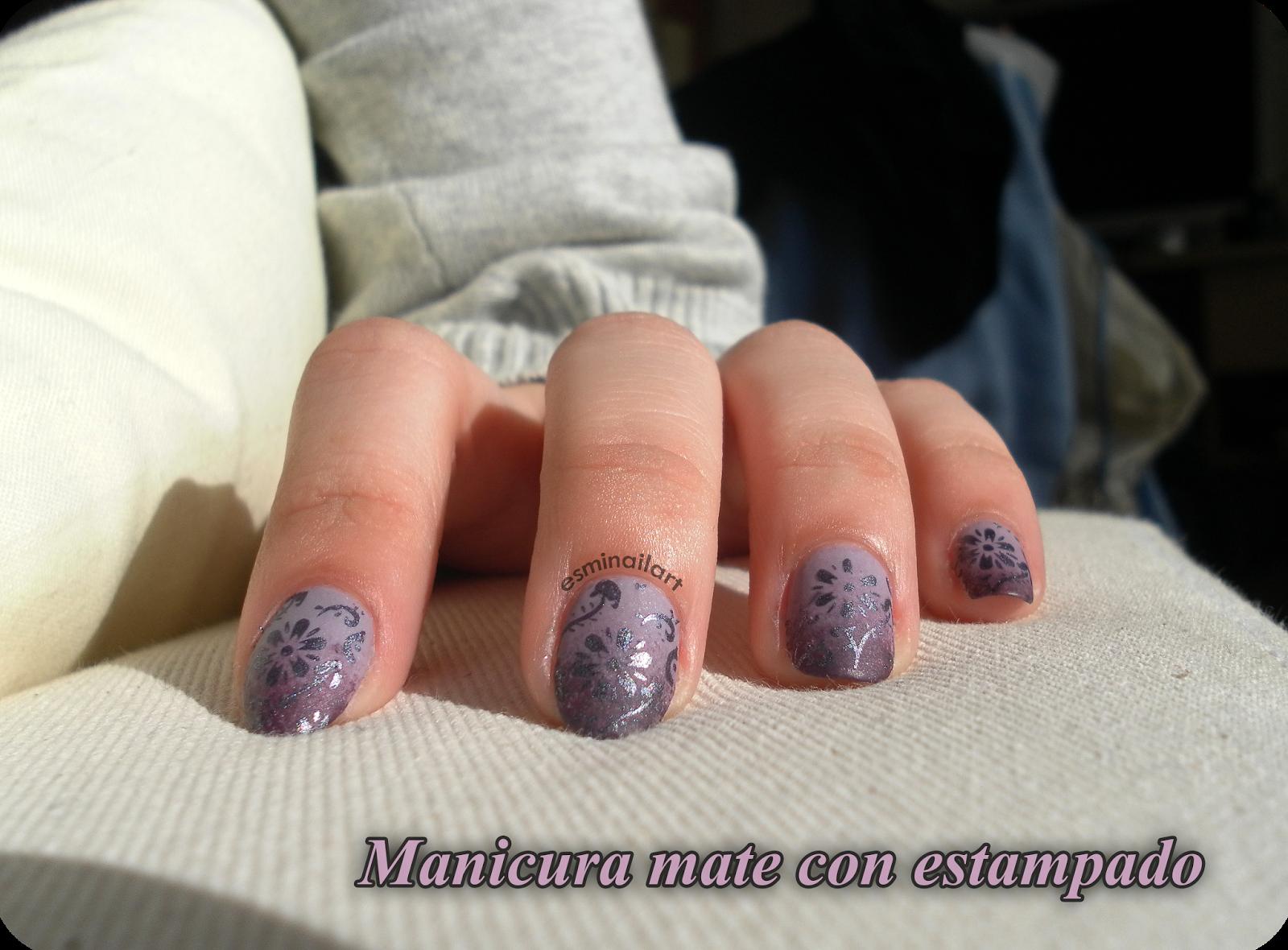 Mi nail art!: Degradado mate #retotiposdeesmaltes1minuto