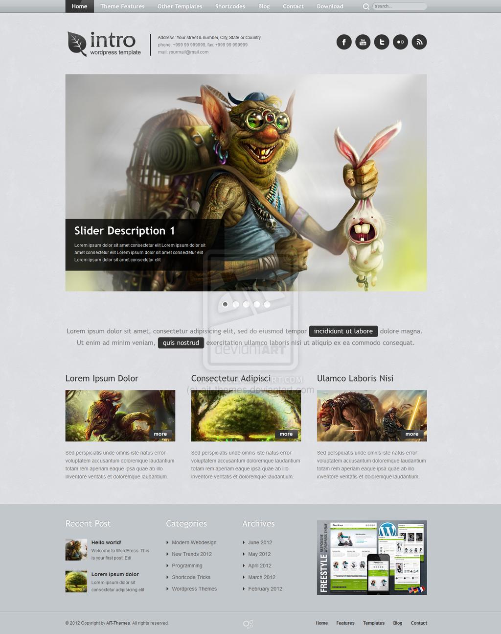 Free Responsive Wordpress Theme By Ait Themes On Deviantart Wordpress Theme Responsive Wordpress Theme Free Responsive Free Wordpress Themes