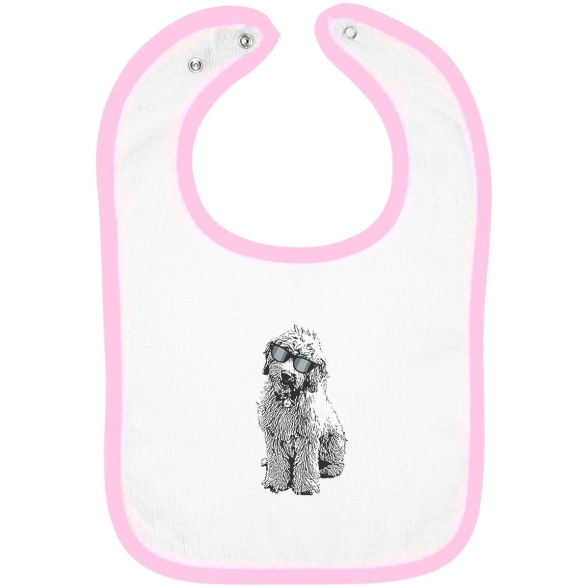 Doodle With Glasses - Infant Terry Snap Bib