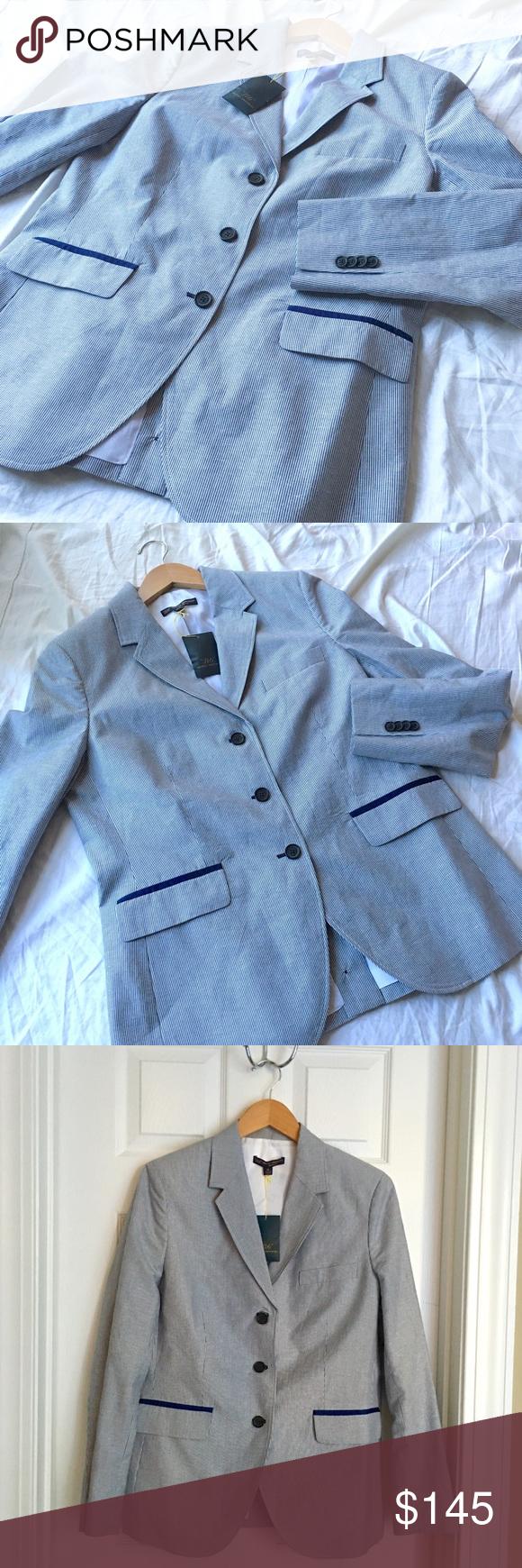 "Selling this Brooks Brothers ""346"" Pinstripe Milano Fit Blazer on Poshmark! My username is: carrieburke. #shopmycloset #poshmark #fashion #shopping #style #forsale #Brooks Brothers #Jackets & Blazers"