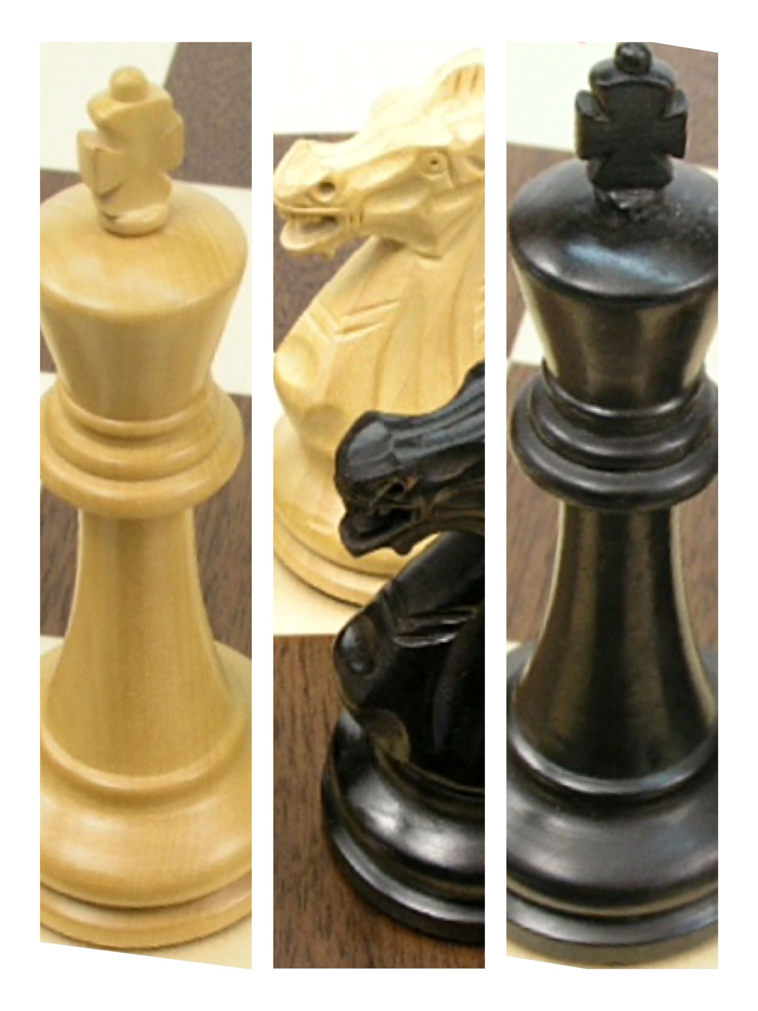 A Beautiful Executive Staunton Solid Wood Chess Set Executive In