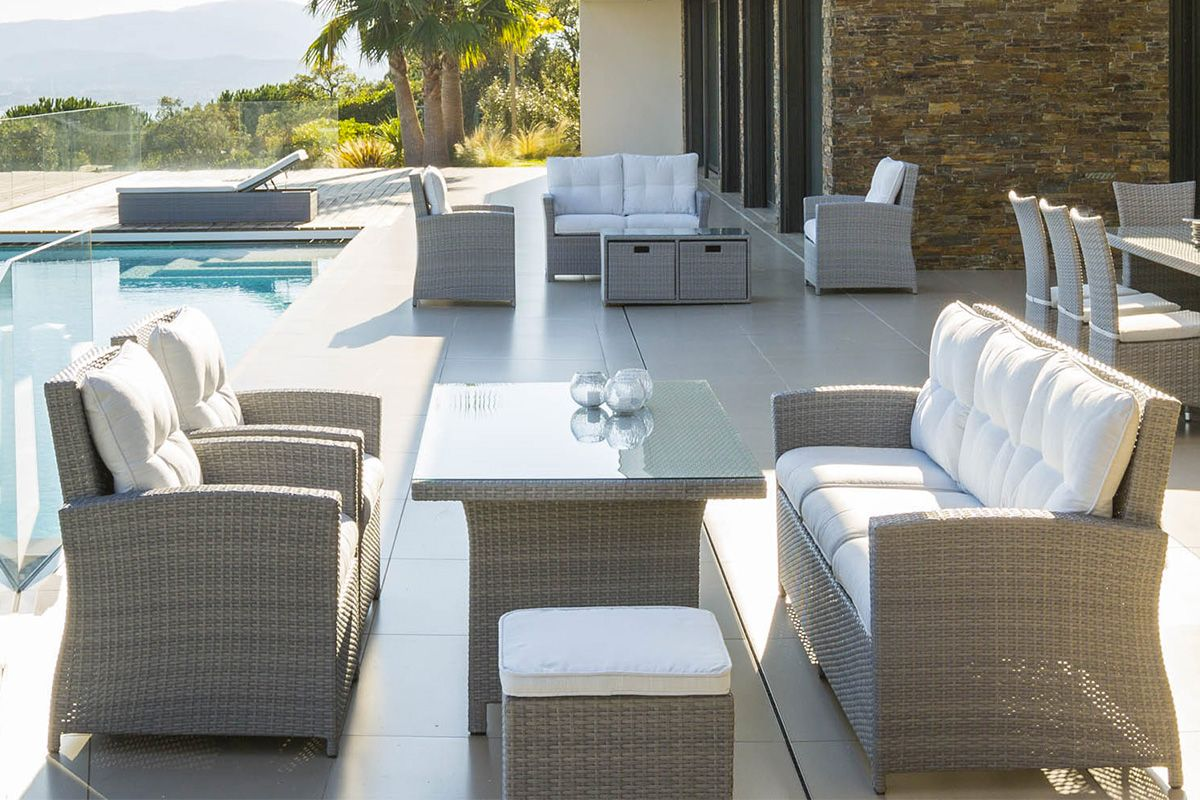 awesome table de jardin resine hesperide photos amazing house design. Black Bedroom Furniture Sets. Home Design Ideas