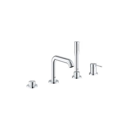 Grohe 19578001 Starlight Chrome Essence New Deck Mounted Roman Tub Faucet Trim With Built In Diverter Roman Tub Faucets Bathroom Fixtures Kitchen Appliances