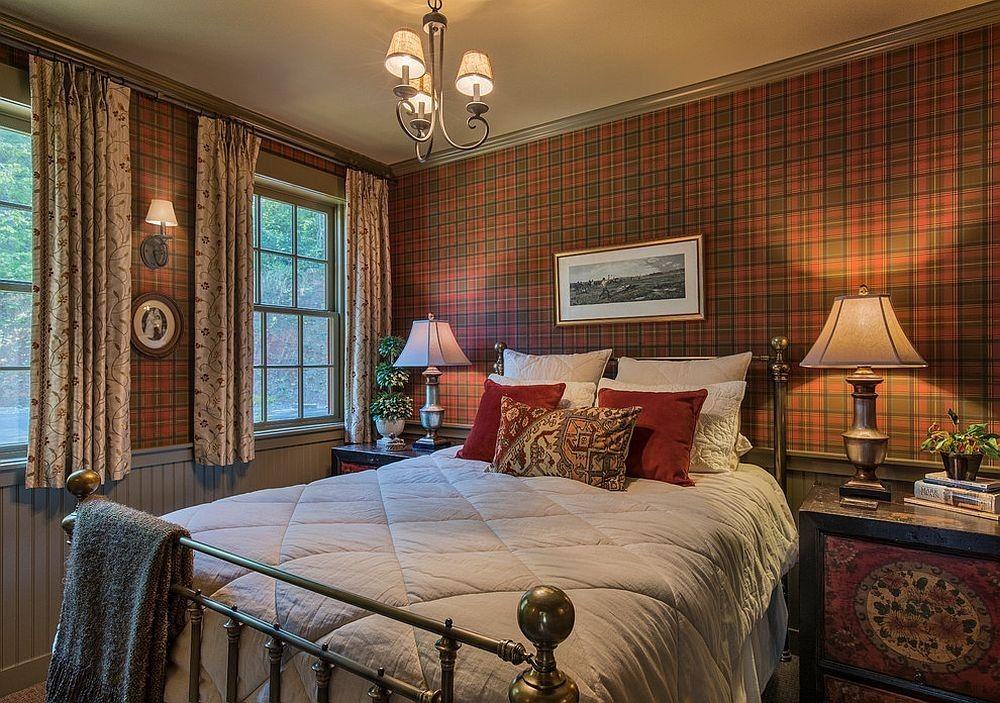 Rustikale schicke Schlafzimmer, die das Beste aus beiden