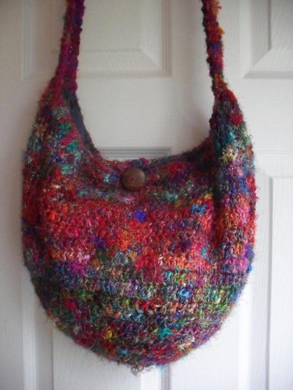 Silk Hobo Purse Pattern Crafty Pinterest Crochet Knitting And Gorgeous Crochet Hobo Bag Pattern