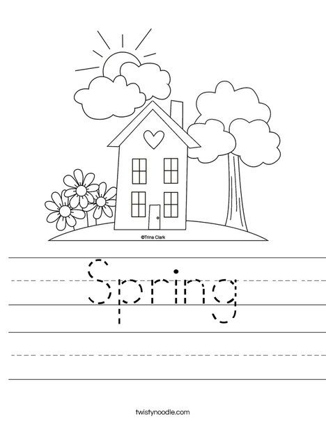 Spring Worksheet Twisty Noodle Worksheets, Spring