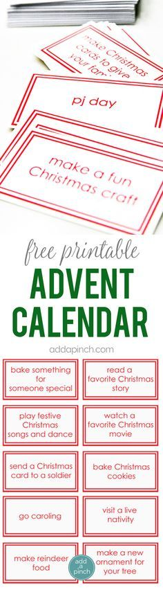 Free Printable Advent Calendar Cards - This Children\u0027s Advent