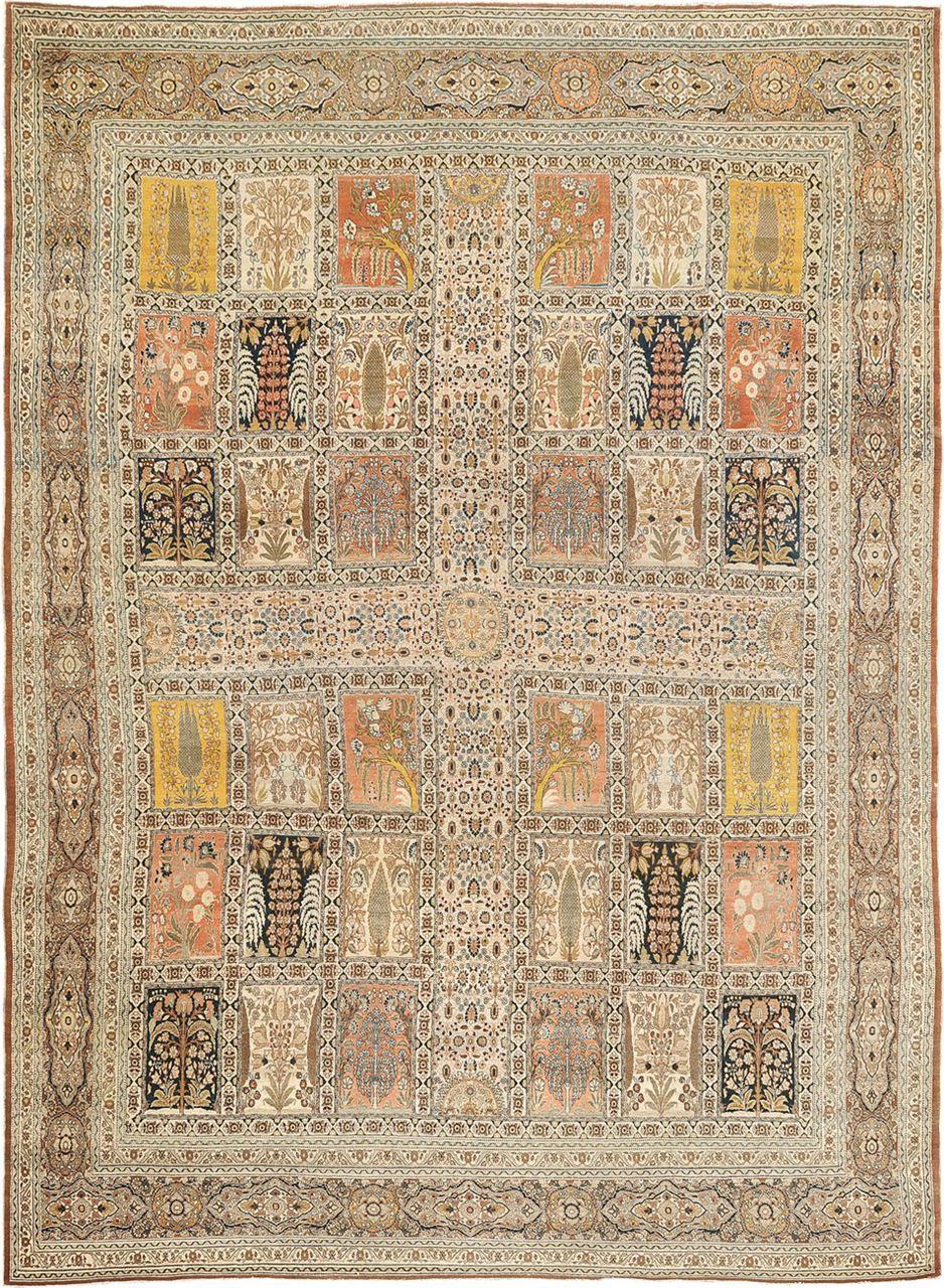 Antique Hadji Jalili Tabriz Origin Persia Size 12 0 X 16 5 Rug Id 1118 Rugs Rugs On Carpet Antique Rugs