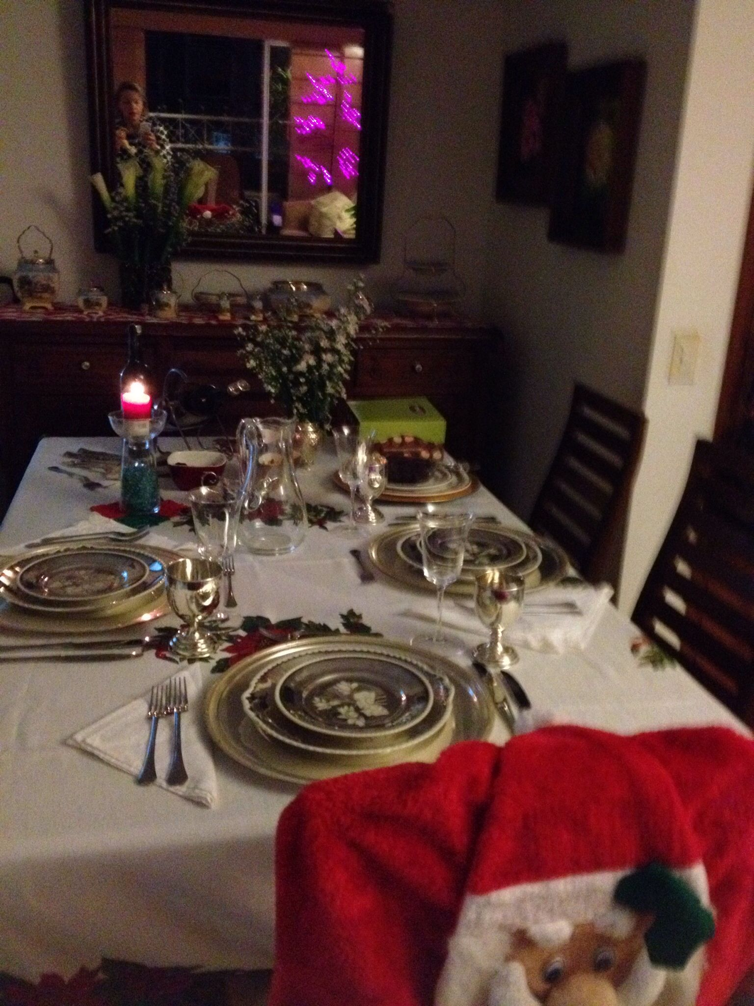 Mi mesa de Navidad!