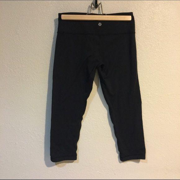 LULULEMON SZ 6 OR M SKINNY CROPPED LEGGINGS PANTS As seen, reversible lululemon athletica Pants