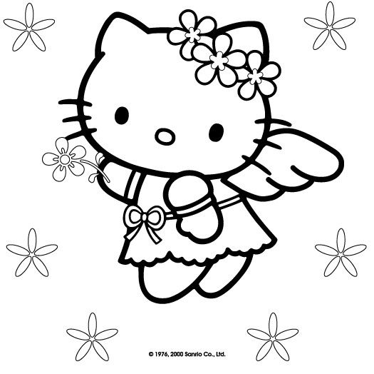 I disegni da colorare di Hello Kitty | disegni Sofia | Pinterest