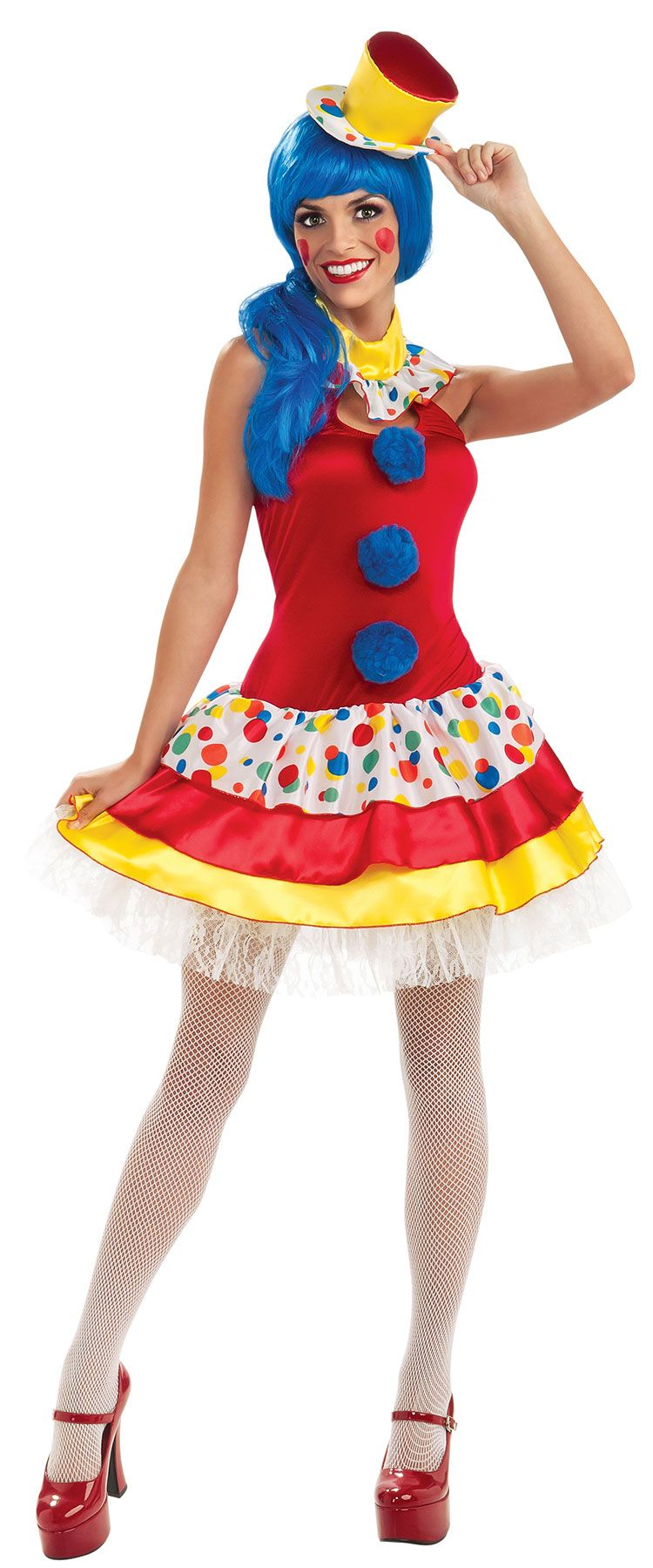 womens giggles the clown costume giggles the clown adult costume tricks jokes balloons birthday parties and circus fun await those who don this - Girl Clown Halloween Costumes