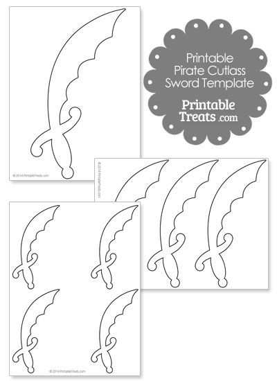 Printable Pirate Cutl Sword Template From Printabletreats