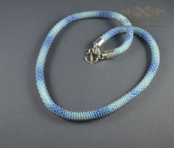 ON SALE FREE Shipping Shaded necklace  blue by SzkatulkaAmi