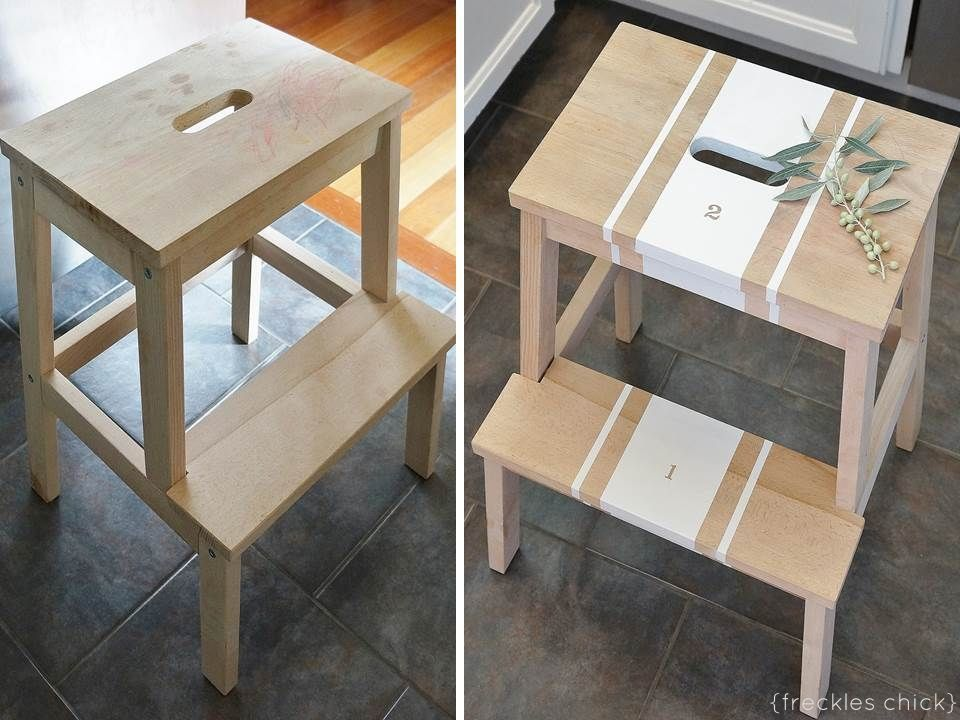 Spruced up step stool IKEA Bekvam via @Anna Totten Dormer Volgsten Chic & 19 best ikea bekvam stool hacks images on Pinterest | Ikea bekvam ... islam-shia.org