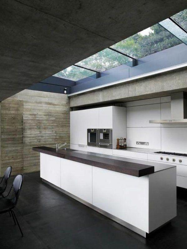 Küchen Mit Kochinsel Küchenblock Freistehend Dachfenster