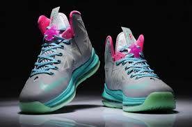 4a2f5833c116 Cheap Womens Lebron 10 Pink Green Black Grey