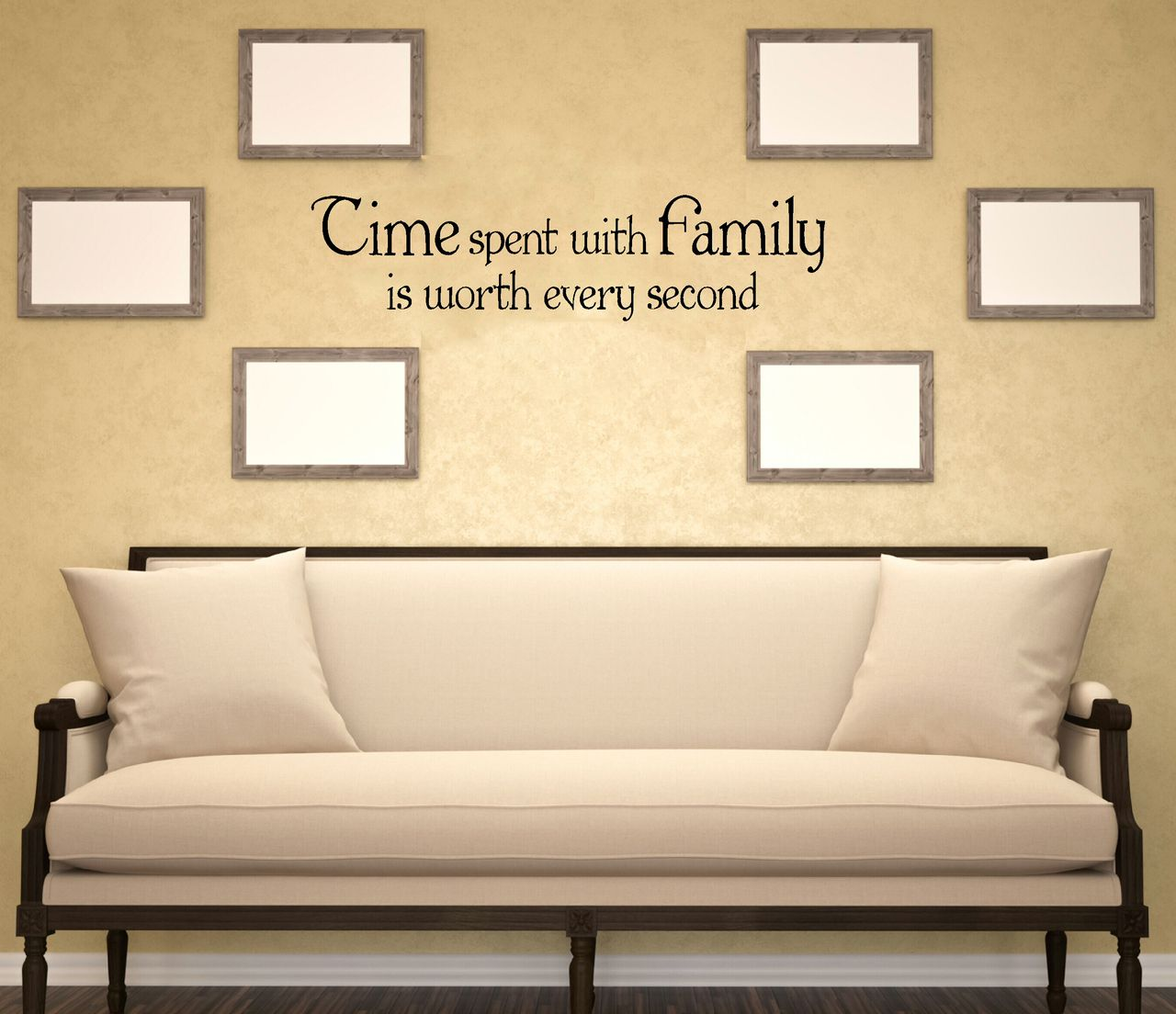 Time Spent With Family Worth Every Second Family Wall Decals for ...