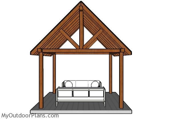 12x12 Pavilion Roof Plans Myoutdoorplans Free Woodworking Plans And Projects Diy Shed Wooden Playhouse Perg In 2020 Pavilion Plans Gazebo Plans Outdoor Pavilion