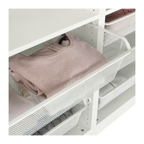 Komplement Mesh Basket With Pull Out Rail White 39 3 8x13 3 4 Ikea Pax Kleiderschrank Ikea Korb