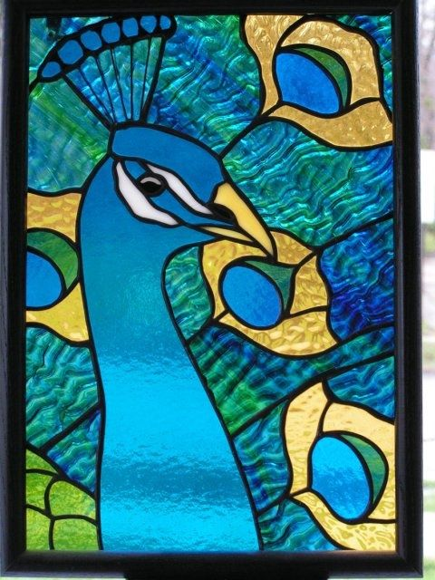 stained glass peacock patterns   Peacock   Stained Glass   Pinterest