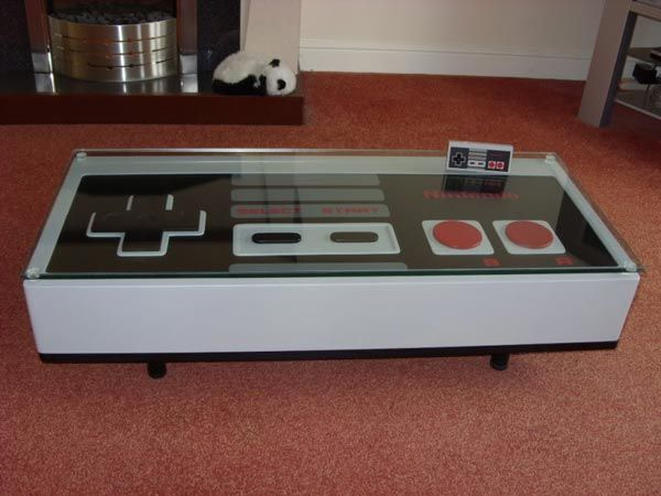 NES Coffee Table - Now your playing with power!  Don't spill...