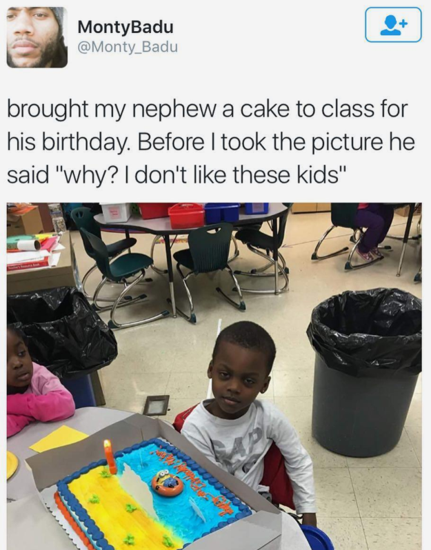This kid who knows he doesn't have to pretend:
