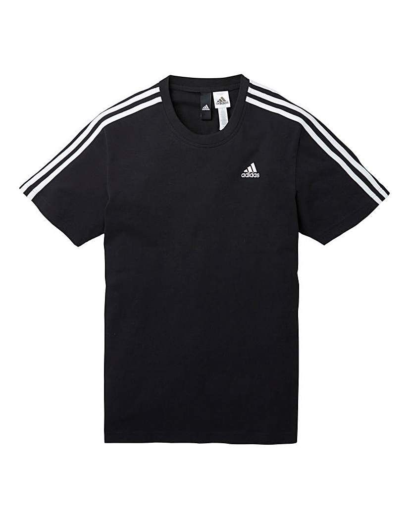 adidas Performance Herren Sport T Shirt Essentials Branded T shirt weiß
