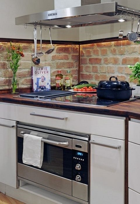 22 Brick Wall Kitchen for An Eco-Friendly Impression Room Ideas in