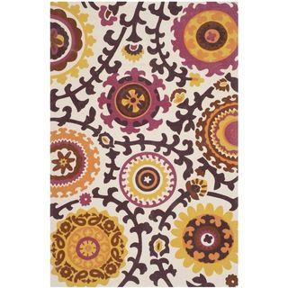 Safavieh Hand-loomed Cedar Brook Ivory/ Pink Cotton Rug (4' x 6')   Overstock.com Shopping - Great Deals on Safavieh 3x5 - 4x6 Rugs