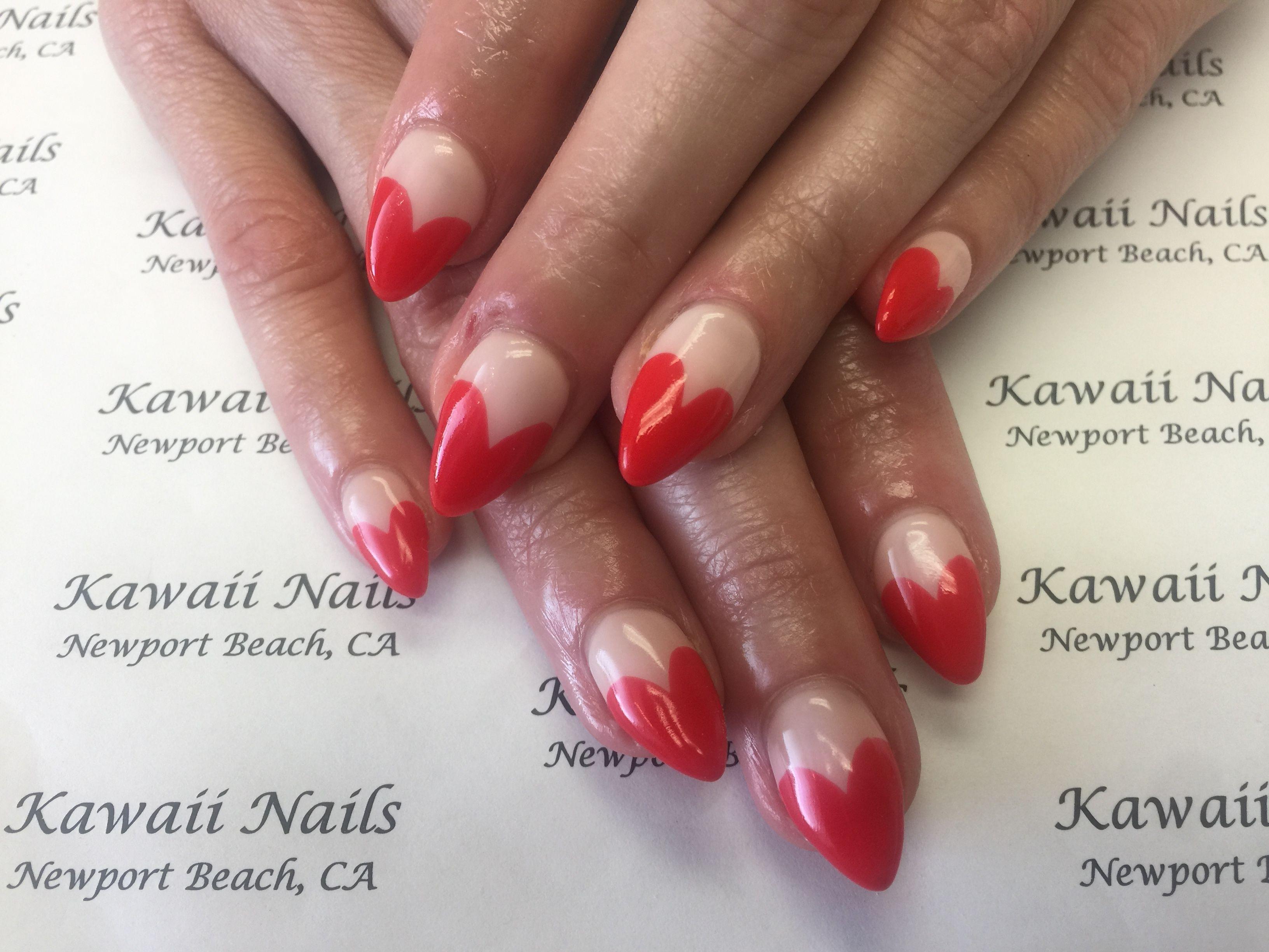 Valentines nails   Valentine nails   Pinterest   Kawaii nails