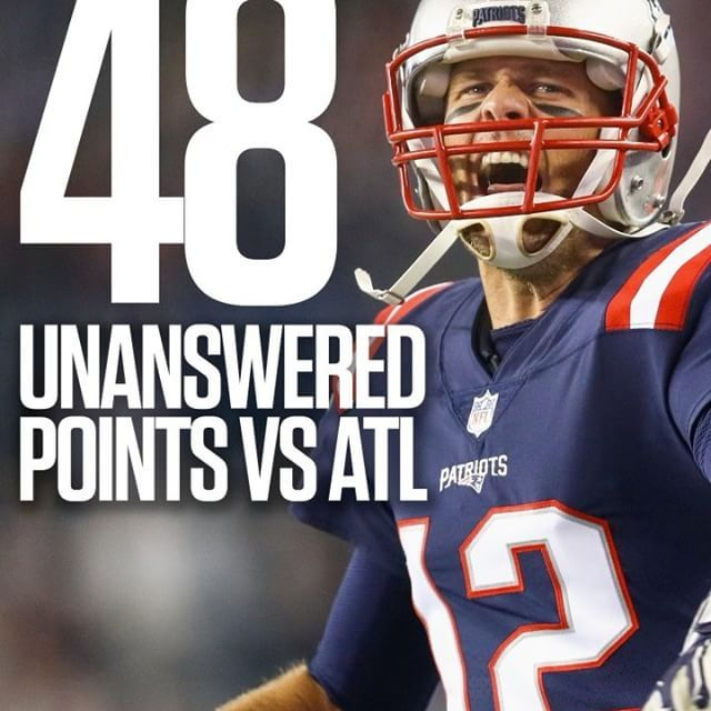 The Patriots Have Scored 48 Unanswered Points Dating Back To The Falcons 28 3 Lead Over New England In Super Bowl Li Super Bowl Li Patriots Football Helmets