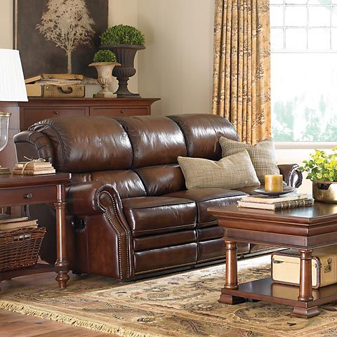 Missing product home leather reclining sofa sofa - Overstuffed leather sofa living room ...