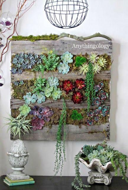 Vertical Pallet Indoor Garden: 23 Recycled Pallet Wall Art Ideas For  Enhancingu2026