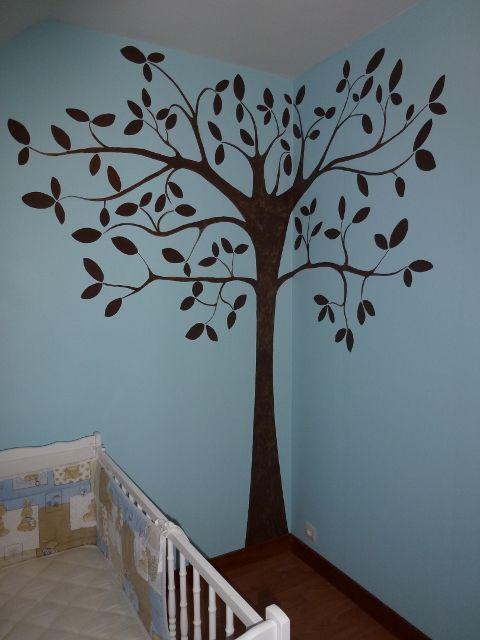 L 39 arbre peint la main d co faite maison - Deco jardin fait main caen ...