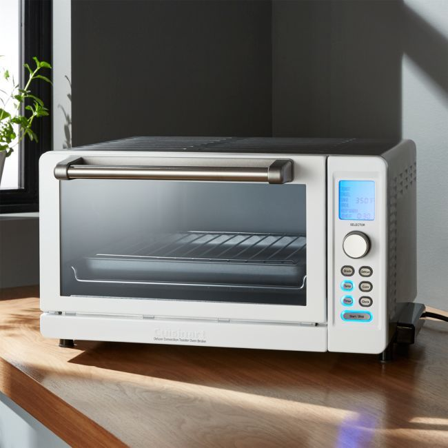 Cuisinart Deluxe White Stainless Steel Convection Toaster Oven Broiler Reviews Crate And Barrel Toaster Oven Crate Barrel