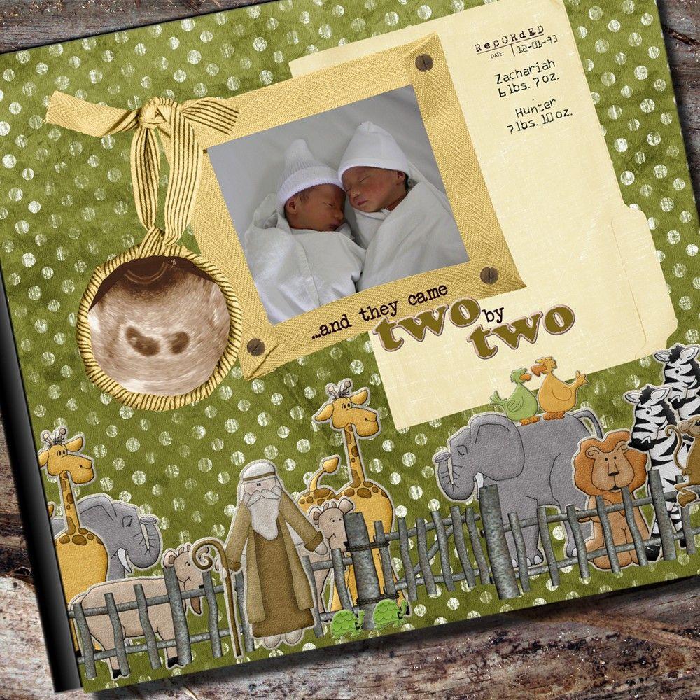 How to scrapbook a baby album - Scrapbooking Ideas For Twins Album Scrapbookbaby