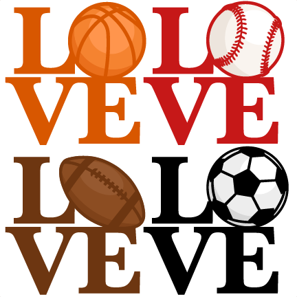 love sports titles svg scrapbook cut file cute clipart clip art rh pinterest ca Cute Scrapbooking Clip Art Photo Album Clip Art