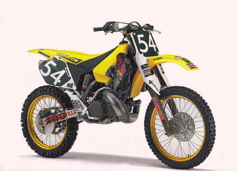 1994 Japanese Factory Suzuki Rh250 Of Kyle Lewis Motocross Bikes Suzuki Motocross Yamaha Motocross