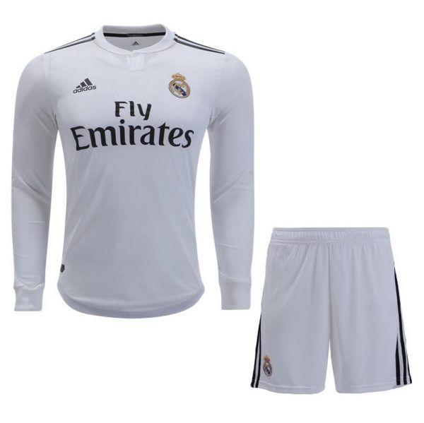 Comprar Maillot de fútbol de manga larga del Real Madrid Home Kit 2018-2019  - Tienda de jersey de fútbol 43726c45655b3