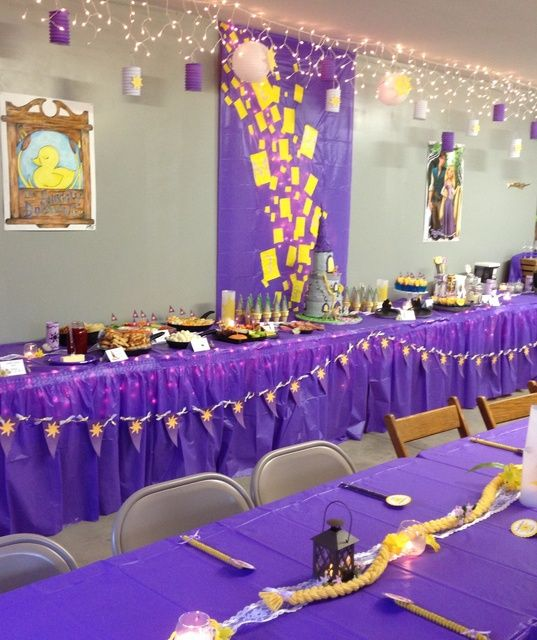 RapunzelTangled Birthday Party Ideas Tangled birthday Rapunzel