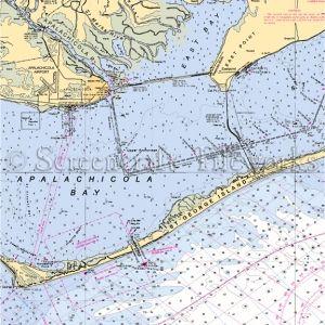 Florida - Apalachicola / Nautical Chart Decor | Apalachicola
