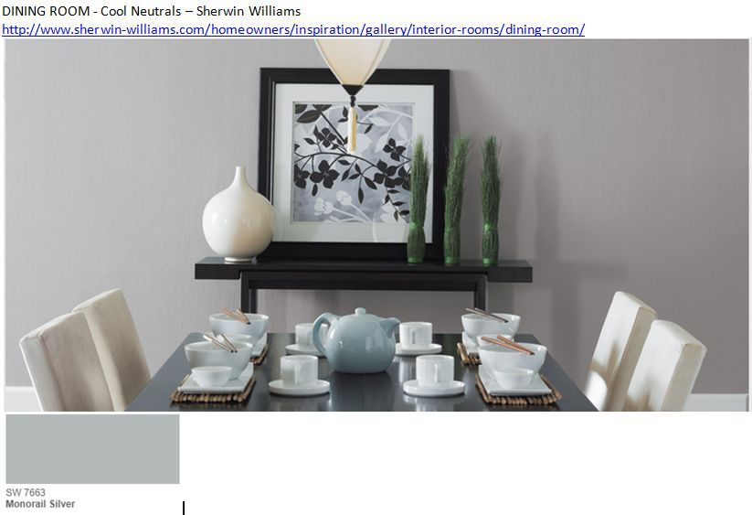 Dining room monorail silver cool neutrals sherwin - Sherwin williams foothills interior ...