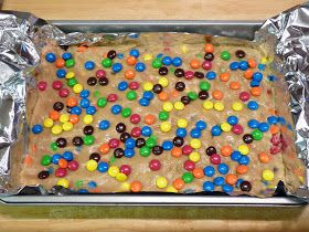 Fantastic Family Favorites: Thick and Chewy M&M Cookie Bars