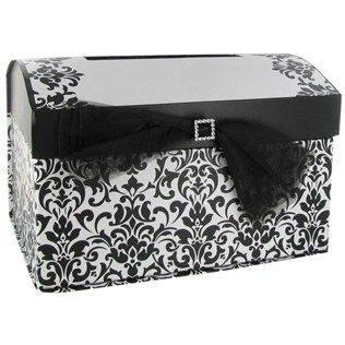 His Hers Black White Wedding Card Box Shop Hobby Lobby