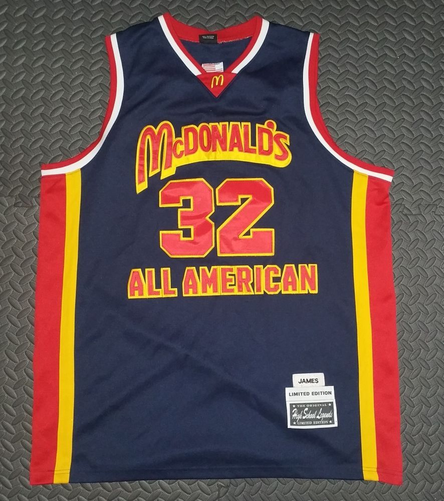 219ae648ceed Lebron James Vintage Basketball Jersey Rare High School Legends McDonalds  sz 54  HighSchoolLegends  McDonaldsAllAmerican  lebron  lebronjames   fitness ...