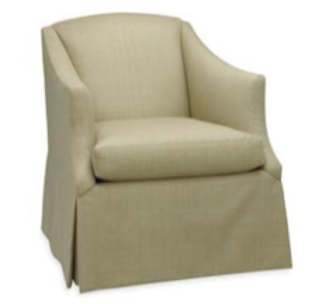 "Lee Industries 1931 01SW Swivel Chair in Monarch Indigo fabric 28"" W"